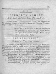 Dziennik Dekretów Sądu Kassacyinego Xięstwa Warszawskiego. T. I. 1810, nr 43