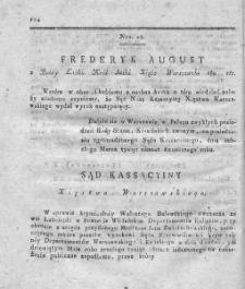 Dziennik Wyroków Sądu Kassacyinego Xięstwa Warszawskiego. T. 2. 1812. Nr 28