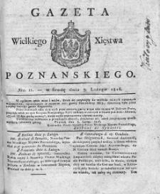 Gazeta Wielkiego Xięstwa Poznańskiego. 1816. Nr 11