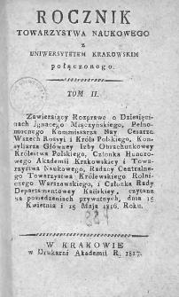 Rocznik Towarzystwa Naukowego z Uniwersytetem Krakowskim połączonego 1817, R. 2