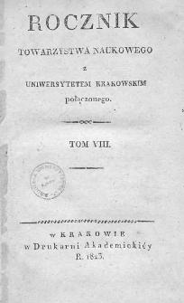 Rocznik Towarzystwa Naukowego z Uniwersytetem Krakowskim połączonego 1823, R. 8