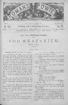 Romans i Powieść. Tygodnik beletrystyczny, ilustrowany. T IV. 1882. Nr 102