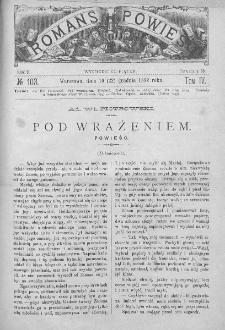 Romans i Powieść. Tygodnik beletrystyczny, ilustrowany. T IV. 1882. Nr 103