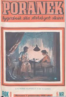 Poranek : tygodnik dla starszych dzieci. 1938. R. II, nr 5