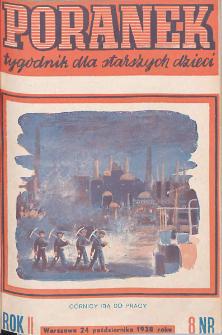 Poranek : tygodnik dla starszych dzieci. 1938. R. II, nr 8