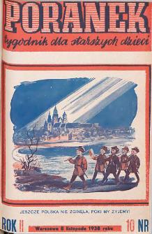 Poranek : tygodnik dla starszych dzieci. 1938. R. II, nr 10