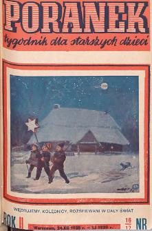 Poranek : tygodnik dla starszych dzieci. 1938-1939. R. II, nr 16-17