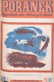 Poranek : tygodnik dla starszych dzieci. 1939. R. II, nr 26