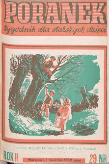 Poranek : tygodnik dla starszych dzieci. 1939. R. II, nr 29