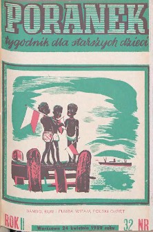 Poranek : tygodnik dla starszych dzieci. 1939. R. II, nr 32