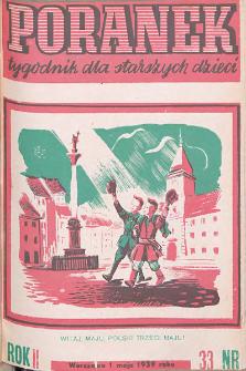 Poranek : tygodnik dla starszych dzieci. 1939. R. II, nr 33