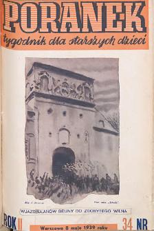 Poranek : tygodnik dla starszych dzieci. 1939. R. II, nr 34