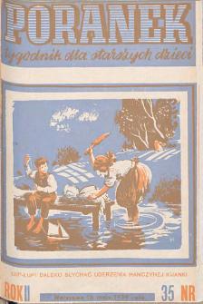 Poranek : tygodnik dla starszych dzieci. 1939. R. II, nr 35