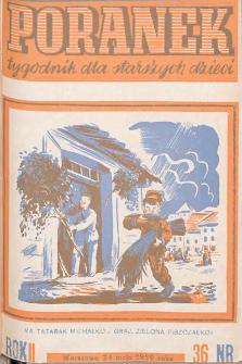 Poranek : tygodnik dla starszych dzieci. 1939. R. II, nr 36