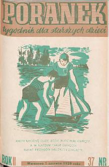 Poranek : tygodnik dla starszych dzieci. 1939. R. II, nr 37