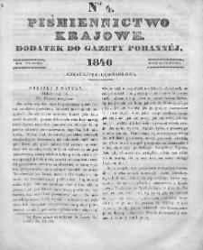 Piśmiennictwo Krajowe : dodatek do Gazety Porannej. 1840. T.1. Nr 4