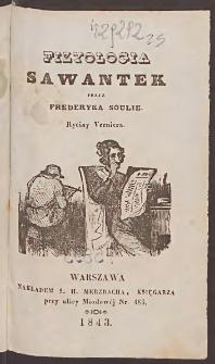 Fizyologia sawantek / przez Frederyka Soulie