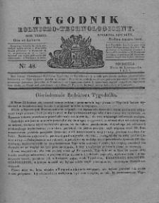 Tygodnik Rolniczo-Technologiczny. T.3. 1837. Nr 48