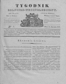 Tygodnik Rolniczo-Technologiczny. T.4. 1838. Nr 3