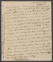 [List Tadeusza Ogińskiego, wojewody Trockiego z 16 marca 1783 r.]