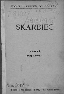 """Skarbiec. Dodatek miesięczny do """"Polaka"""". 1918-1919. Nr 1"""