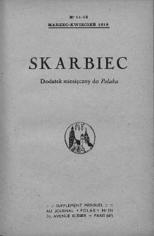 """Skarbiec. Dodatek miesięczny do """"Polaka"""". 1918-1919. Nr 11-12"""