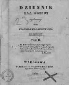 Dziennik dla Dzieci. 1830. T. 2. Nr 74