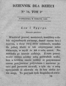 Dziennik dla Dzieci. 1830. T. 2. Nr 76