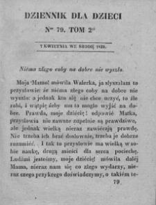 Dziennik dla Dzieci. 1830. T. 2. Nr 79