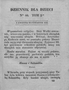 Dziennik dla Dzieci. 1830. T. 2. Nr 80