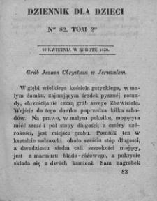Dziennik dla Dzieci. 1830. T. 2. Nr 82