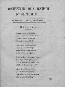 Dziennik dla Dzieci. 1830. T. 2. Nr 83
