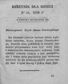 Dziennik dla Dzieci. 1830. T. 2. Nr 85