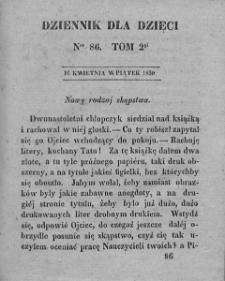 Dziennik dla Dzieci. 1830. T. 2. Nr 86