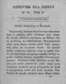 Dziennik dla Dzieci. 1830. T. 2. Nr 87