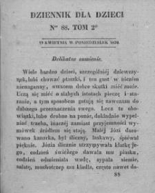 Dziennik dla Dzieci. 1830. T. 2. Nr 88