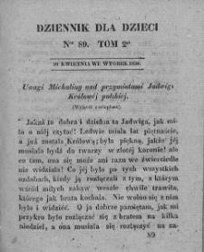 Dziennik dla Dzieci. 1830. T. 2. Nr 89