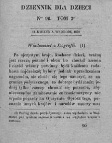 Dziennik dla Dzieci. 1830. T. 2. Nr 90