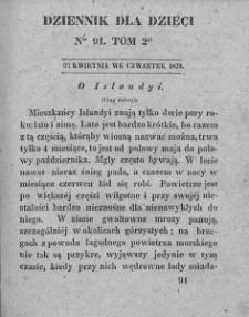 Dziennik dla Dzieci. 1830. T. 2. Nr 91