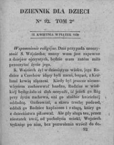 Dziennik dla Dzieci. 1830. T. 2. Nr 92