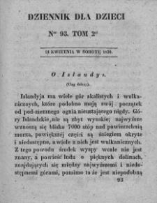Dziennik dla Dzieci. 1830. T. 2. Nr 93