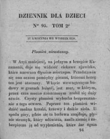 Dziennik dla Dzieci. 1830. T. 2. Nr 95