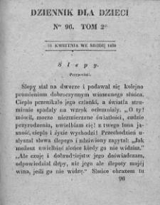 Dziennik dla Dzieci. 1830. T. 2. Nr 96