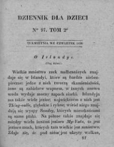 Dziennik dla Dzieci. 1830. T. 2. Nr 97