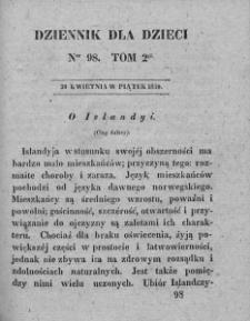 Dziennik dla Dzieci. 1830. T. 2. Nr 98
