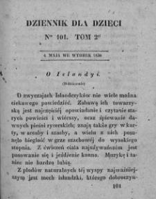 Dziennik dla Dzieci. 1830. T. 2. Nr 101