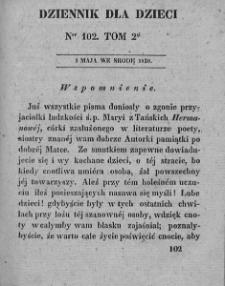 Dziennik dla Dzieci. 1830. T. 2. Nr 102