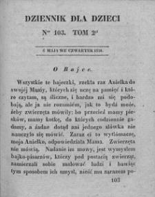 Dziennik dla Dzieci. 1830. T. 2. Nr 103