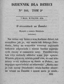 Dziennik dla Dzieci. 1830. T. 2. Nr 104