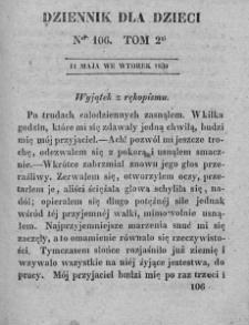 Dziennik dla Dzieci. 1830. T. 2. Nr 106